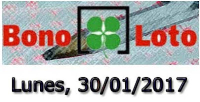 bonoloto lunes 30-01-2017