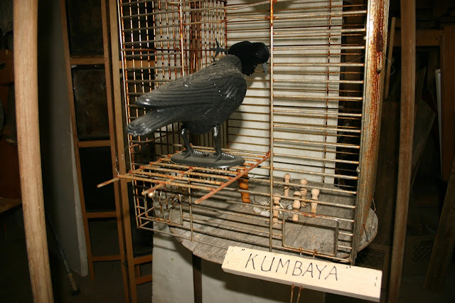 Found Object Art: Kumbaya Cage with Crows by Fred Leach