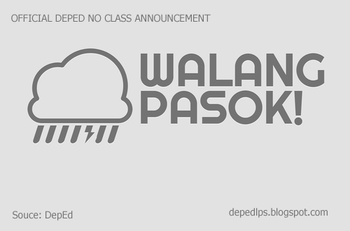 Official No Class Announcement from DepEd