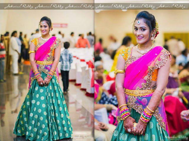 Silk Lehenga by Ashwini Reddy