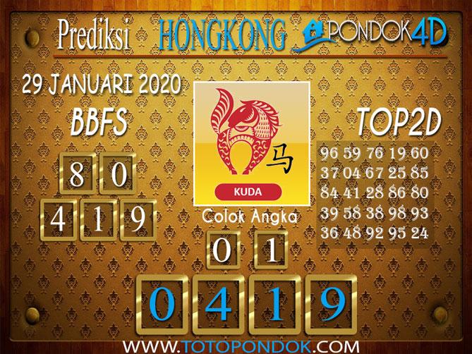 Prediksi Togel HONGKONG PONDOK4D 29 JANUARI 2020