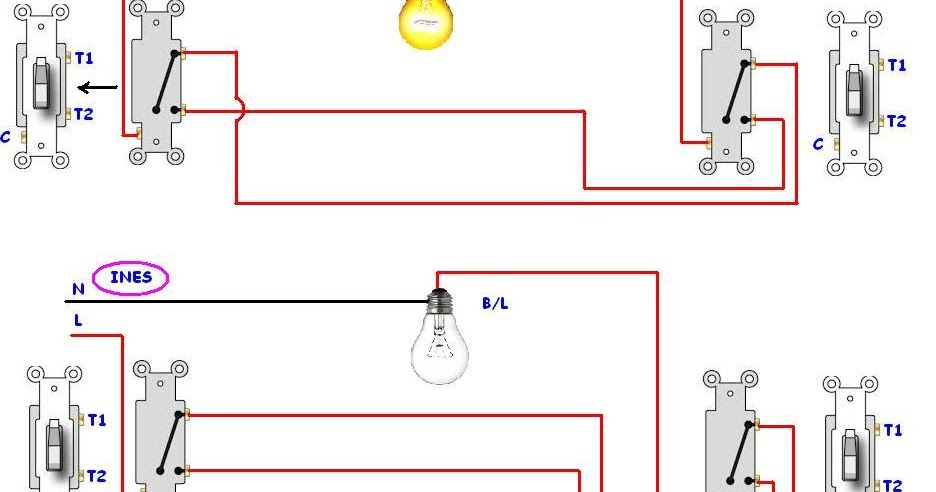 Do Staircase Wiring Circuit With 3 Different Methods
