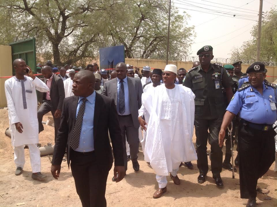 Photos: Gov. Of Adamawa, Bindow, Visits Victims Of Jimeta Bomb Blast & Scene Of The Bomb Blast