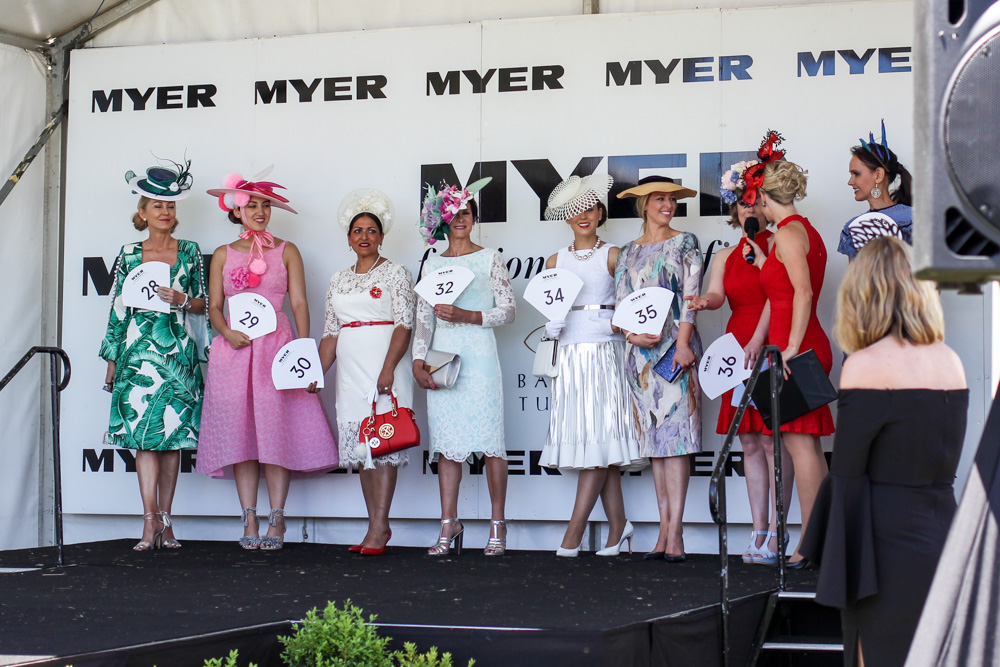 Fashions on the field competition for Melbourne Spring racing carnival Ballarat cup