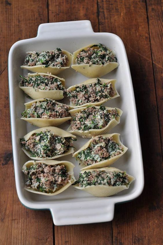 Healthy Stuffed Shells with Ground Turkey and Spinach - #ground #healthy #shells #spinach #stuffed #turkey - #Genel