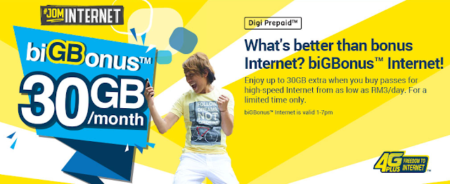 Digi Prepaid Internet Add On Big Bonus Promo