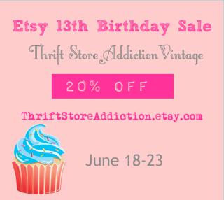 Etsy 13th Birthday Sale