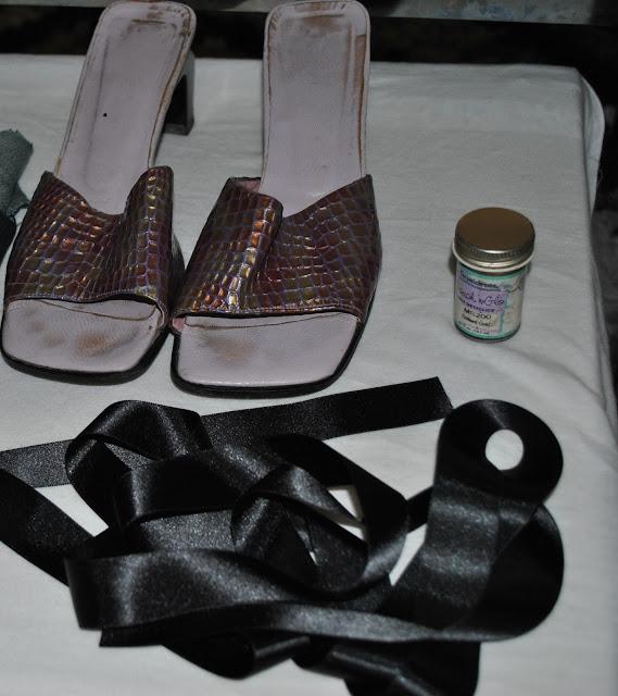 Diy sandalias doradas