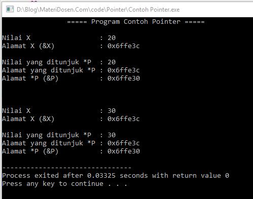 Contoh Program Pointer pada C++, Lengkap dengan Pembahasan