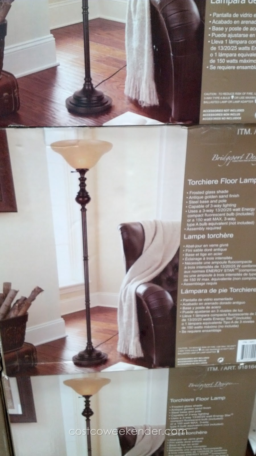 Bridgeport Designs Torchiere Floor Lamp | Costco Weekender