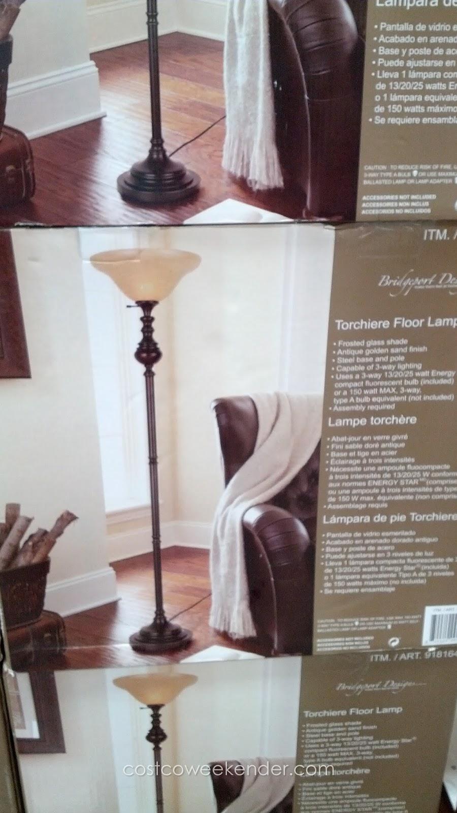 Bridgeport Designs Torchiere Floor Lamp   Costco Weekender