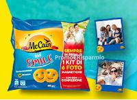 Logo McCain Foto Smile: richiedi come premio certo Kit di 6 foto magnetiche personalizzate