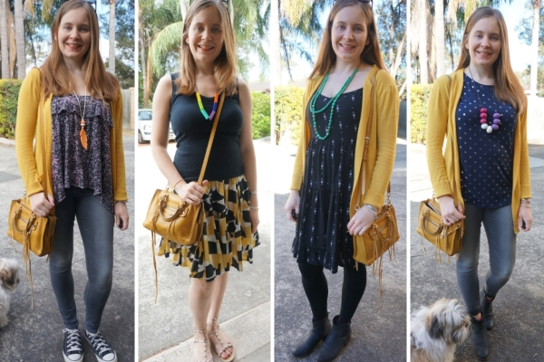 4 match matchy outfits yellow bag with yellow clothes outfit ideas | Away From The Blue