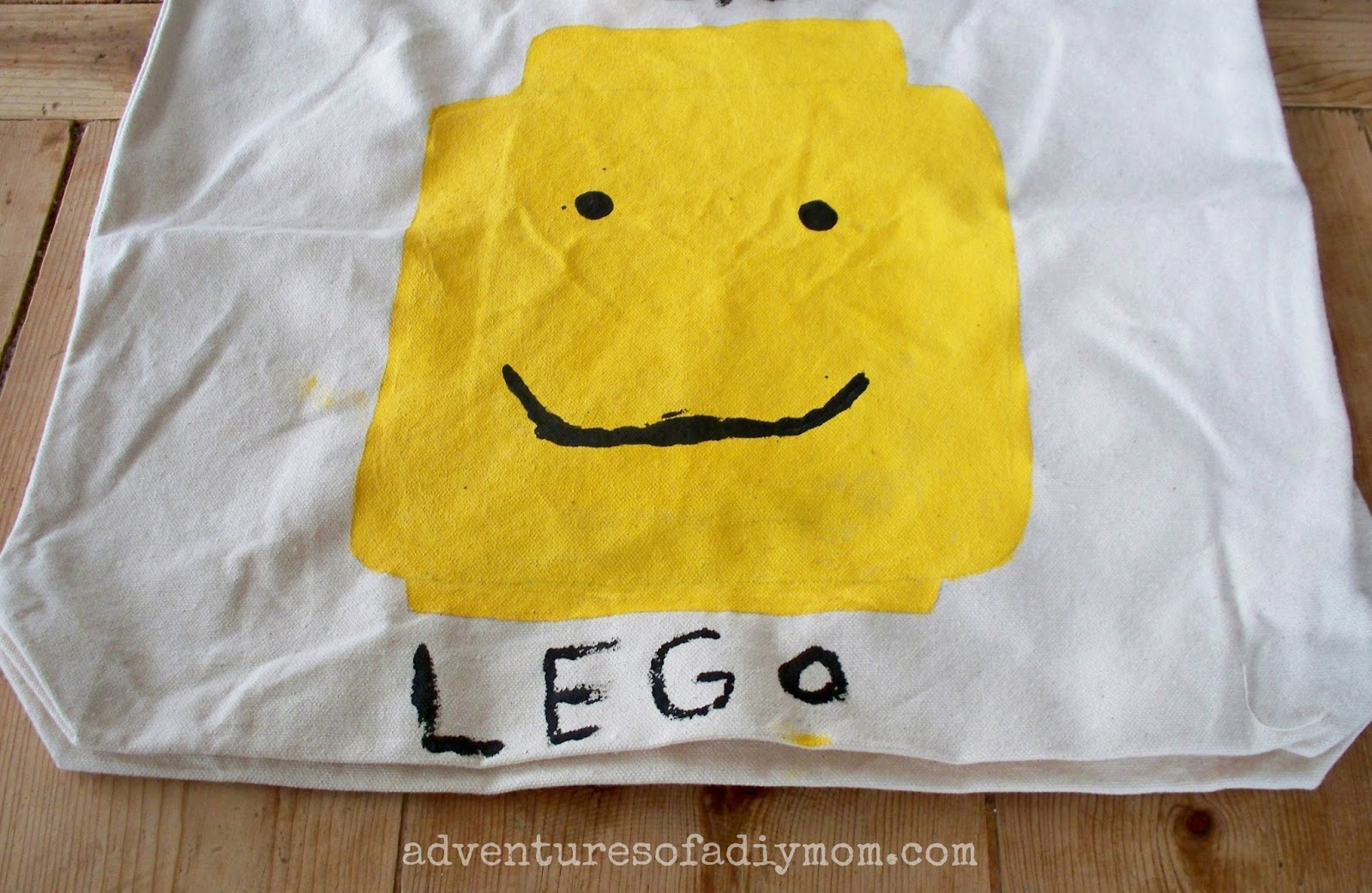 Painted Lego Canvas Bag