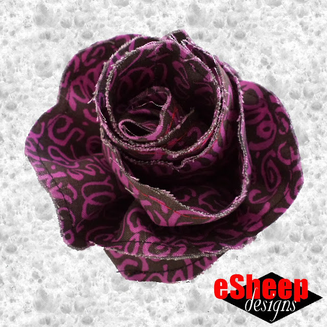 Fabric Flower crafted by eSheep Designs