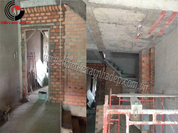 Thi công xây dựng nhà ống 2 tầng 5x15  chị Thủy ở Sóc Trăng Thi-cong-nha-pho-2