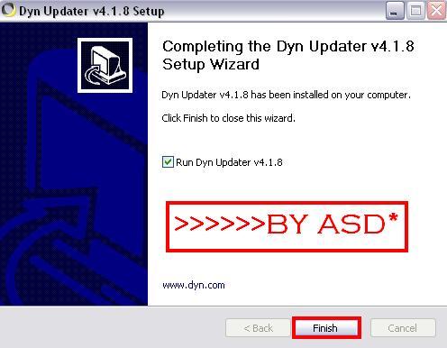 Instalando el Dyn Updater