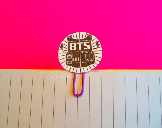 DIY BTS Logo Paper Clip Bookmark