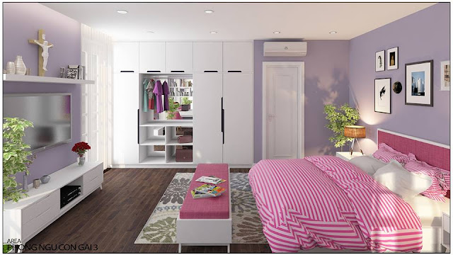 Mẫu thiết kế phòng ngủ đẹp cho vợ chồng trẻ