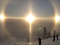 Traveler Record Visits '3 Sun' in Swedish Skies