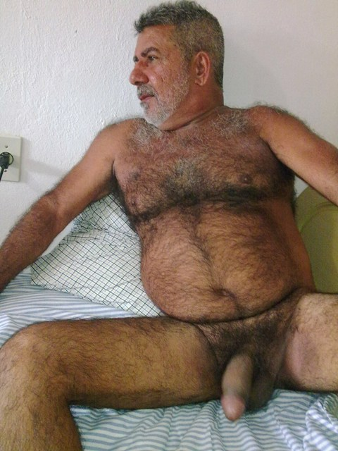 hairy cock men fat Big