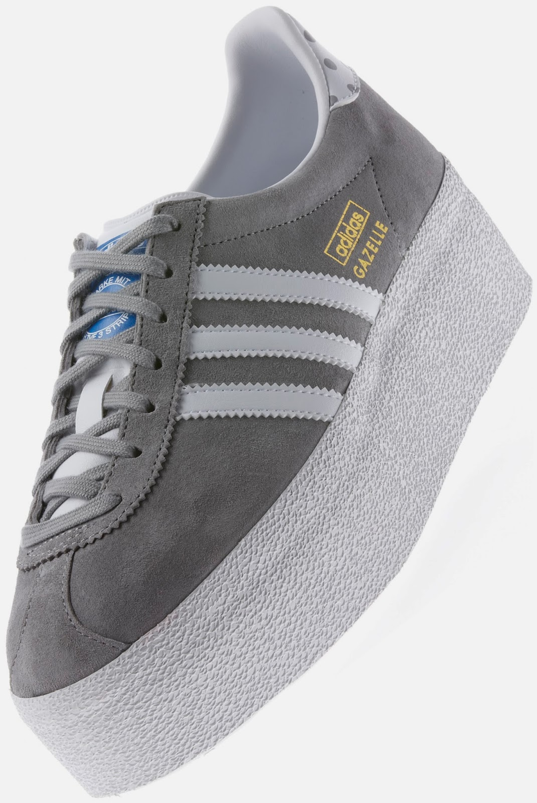 78a83ec91f2 Agora foi a Adidas que pegou em alguns modelos clássicos da marca (como os  Stan Smith ou os Gazelle) e lhes acrescentou uns centímetros de sola. Ora  vejam