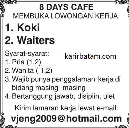 Lowongan Kerja 8 Days Cafe