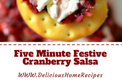 Five Minute Festive Cranberry Salsa
