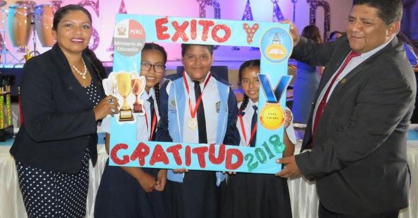 UGEL Talara reconoce a más de 600 escolares por logros educativos convocados por el Ministerio de Educación en el 2018