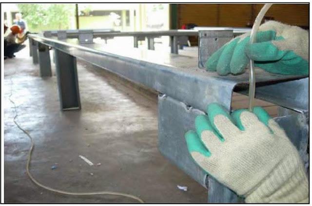 gunting plat baja ringan pasang rangka atap jayawan