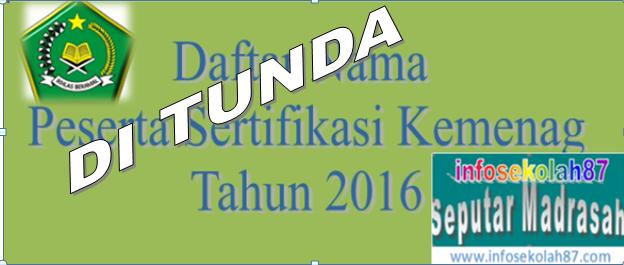 Sertifikasi Guru Kemenag Tahun 2016 Di Tunda