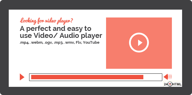 Easy to use html5 video player