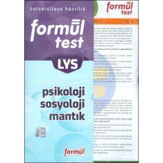 Formül LYS Psikoloji Sosyoloji Mantık Yaprak Test