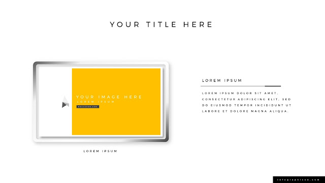 Solution Presentation with photo frame for PowerPoint Type A