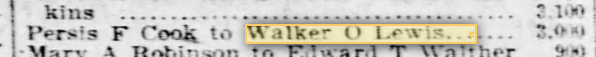 walker o lewis sears trustee
