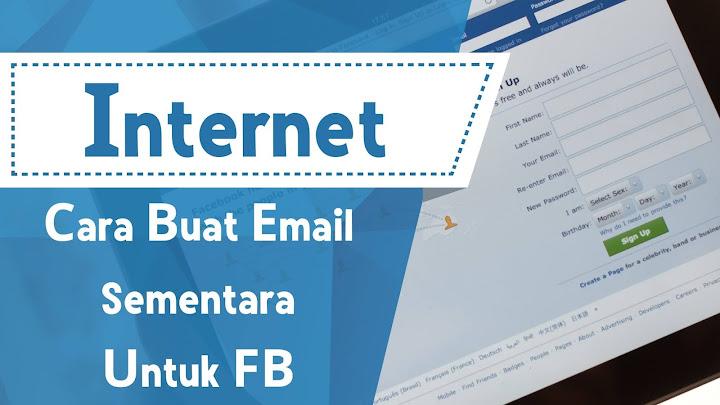 Cara Buat Email Sementara Untuk FB