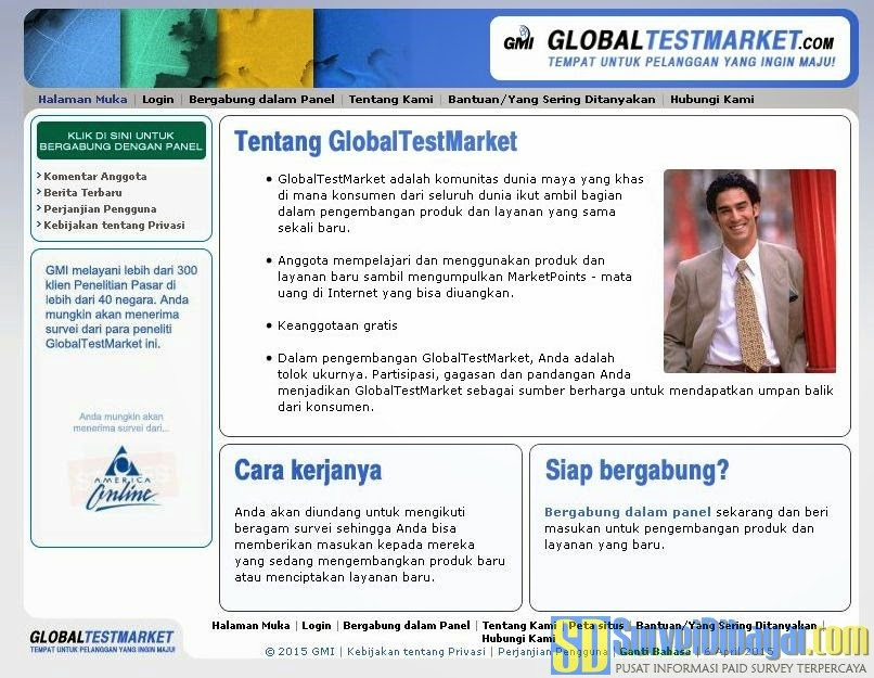 Situs paid survey GlobalTestMarket | Survei Dibayar