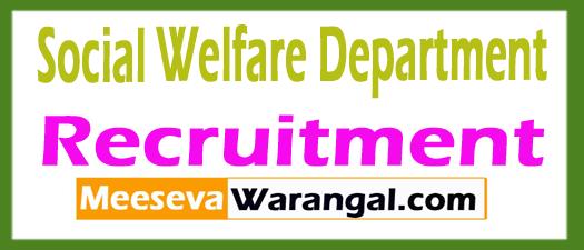 Social Welfare Department SWD Recruitment Notification