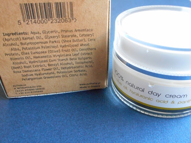 Glowbox Back to Cool: Euthalia, Active Hyaluronic Cream, ingredient list