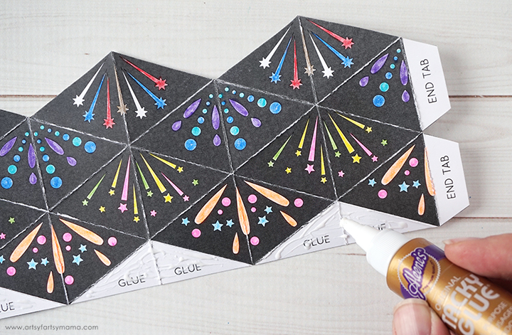 Free Printable Firework Flextangle