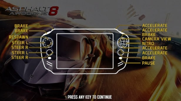 archos gamepad 2 with 2gb and asphalt 8:airborn controls