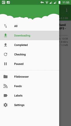 ttorrent download status