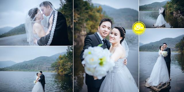 Ảnh cưới giá rẻ chụp tại hồ xanh Đà Nẵng
