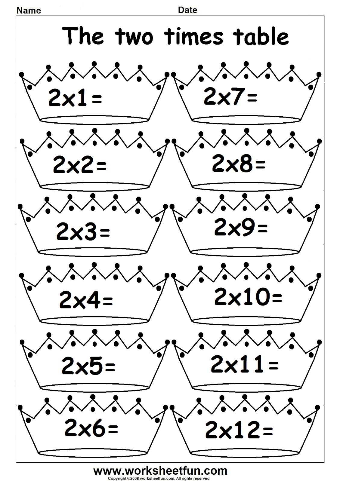 Multiplication Worksheets For Grade 1