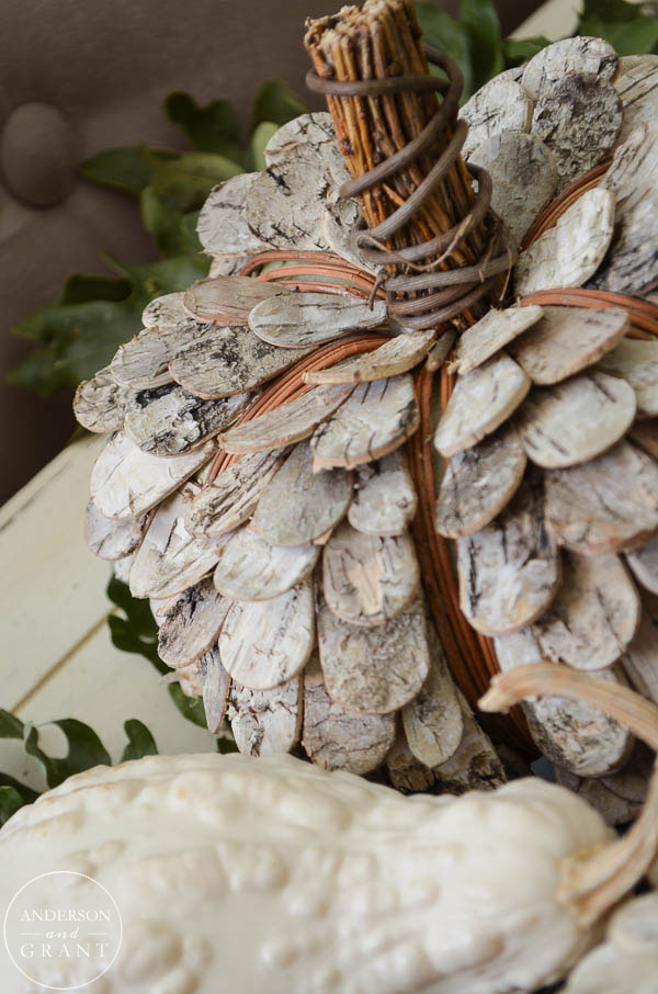 Rustic birch bark pumpkin from Smith & Hawken at Target