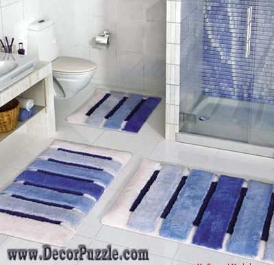modern bathroom rug sets, bath mats 2018 , blue bathroom rugs and carpets