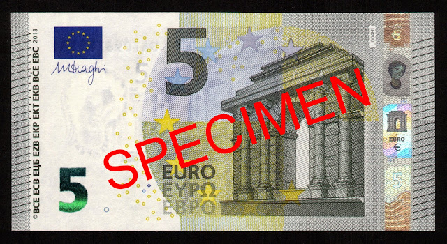 Currency of the Eurozone New 5 euro banknote 2013
