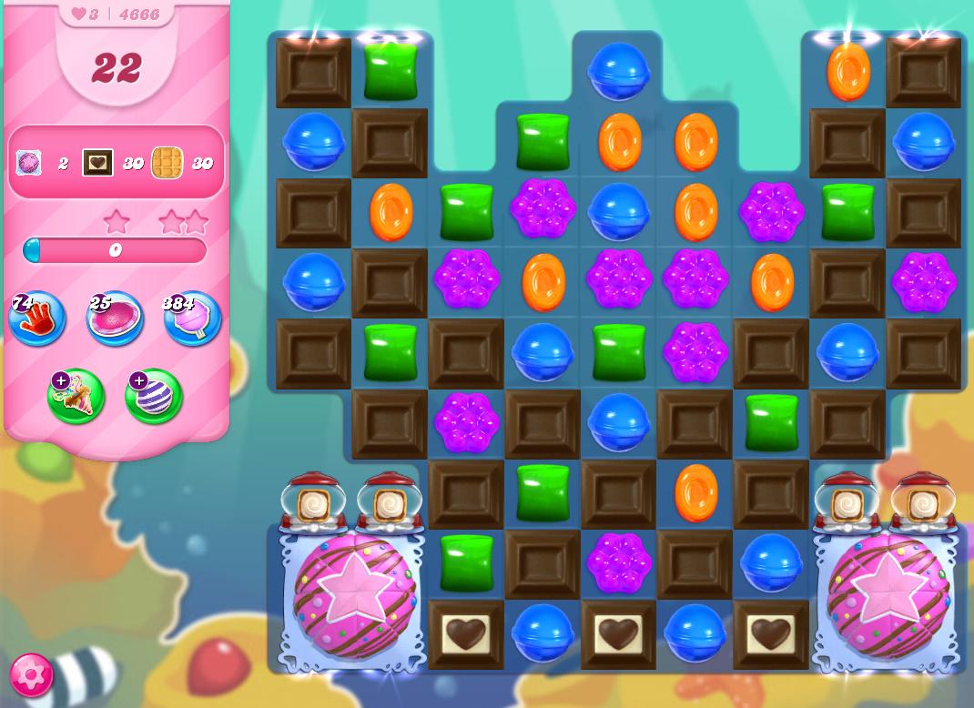 Candy Crush Saga level 4666