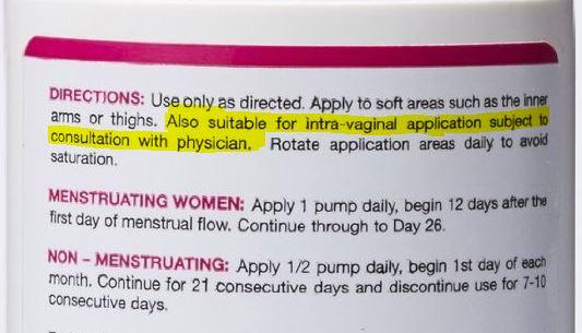progesterone cream how to use