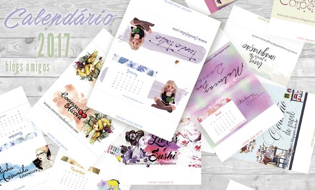 Calendário 2017 | Blogs Amigos - Baixe o seu!